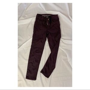 High waste Burgundy pants